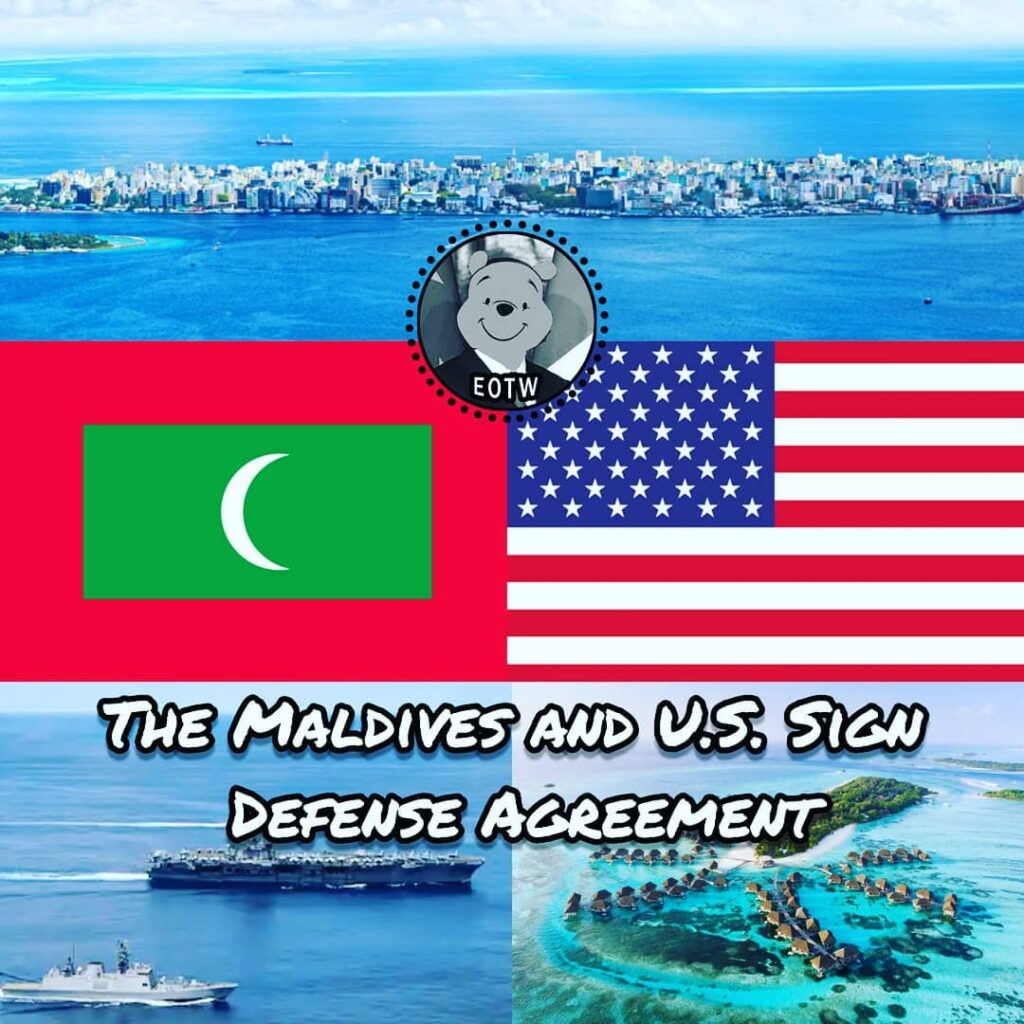 The Maldives, the atoll island country south of the top of India, has signed a d...
