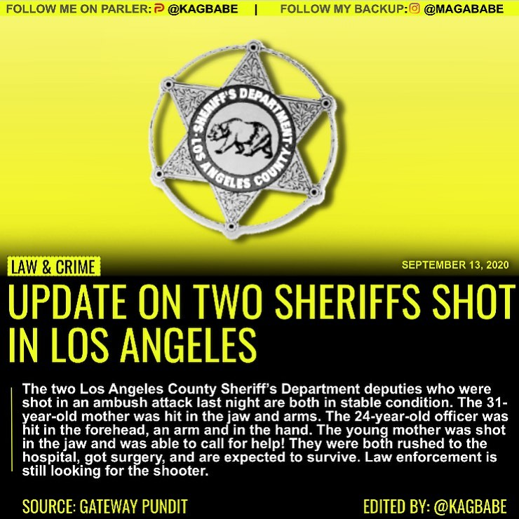 Los Angeles County Sheriff's Department deputies who were shot in an ambush atta...