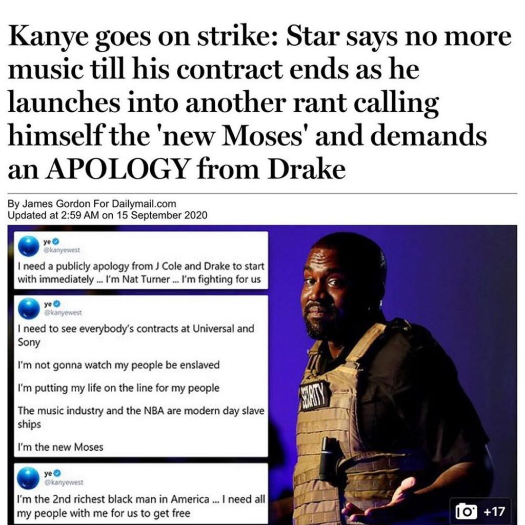 Love him or hate him, Kanye has continued making waves &keeps the attention on h...
