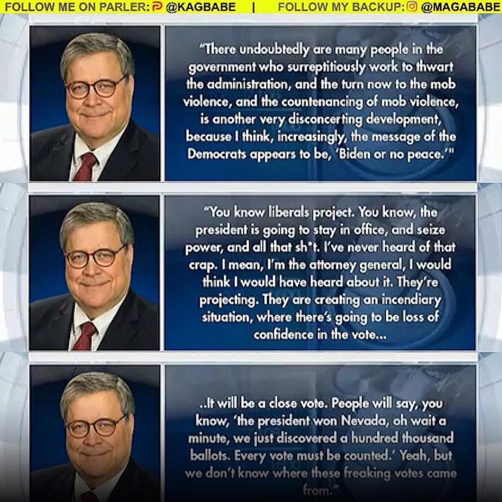 Attorney General Bill Barr dismissed leftist criticism that President Donald Tru...