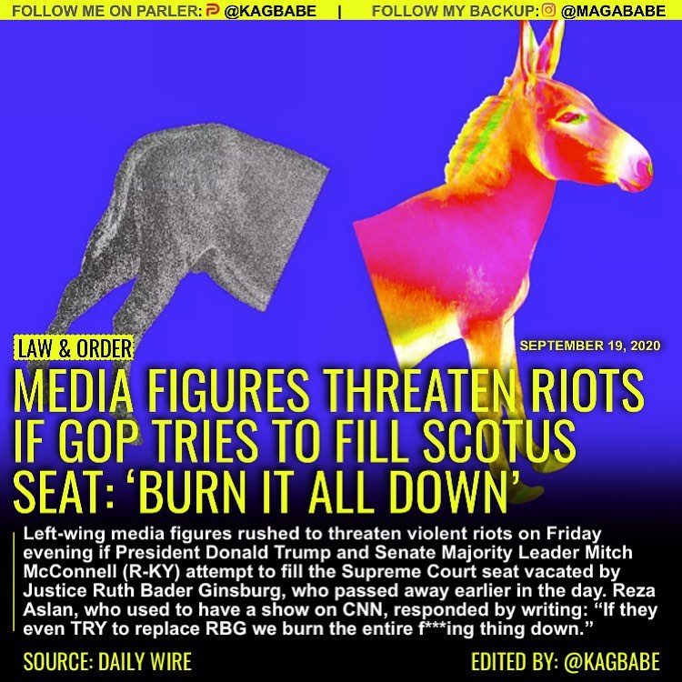 Left-wing media figures rushed to threaten violent riots on Friday evening if Pr...