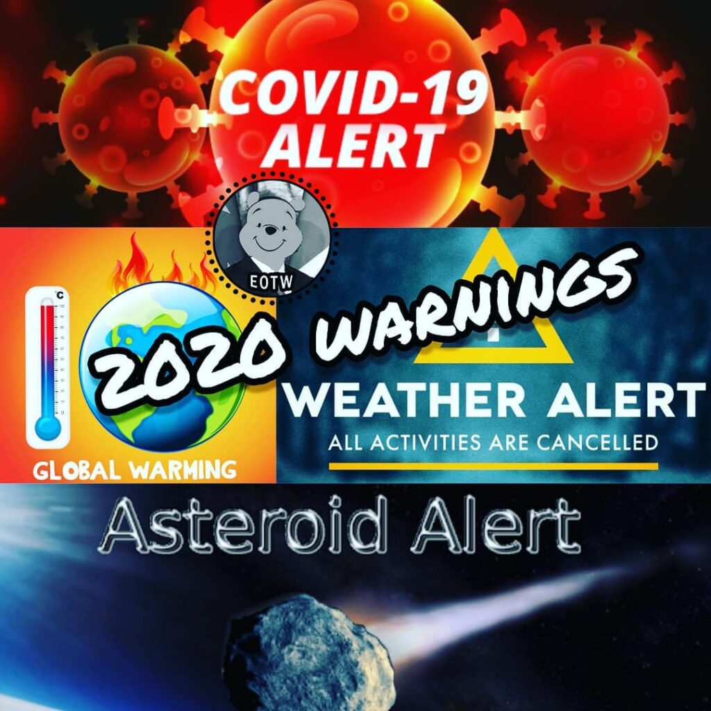 2020 warnings Covid 19/Global warming/Asteroid shield . . . . . #pandemy #global...