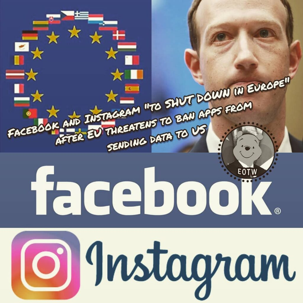 Facebook said it may stop operating its core app and Instagram in Europe thanks ...
