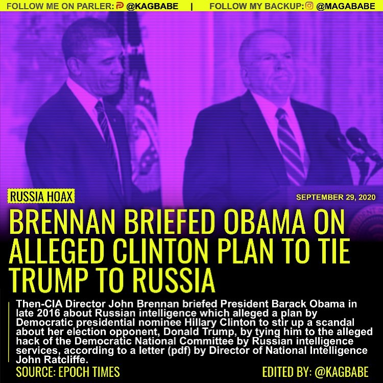 Then-CIA Director John Brennan briefed President Barack Obama in late 2016 about...