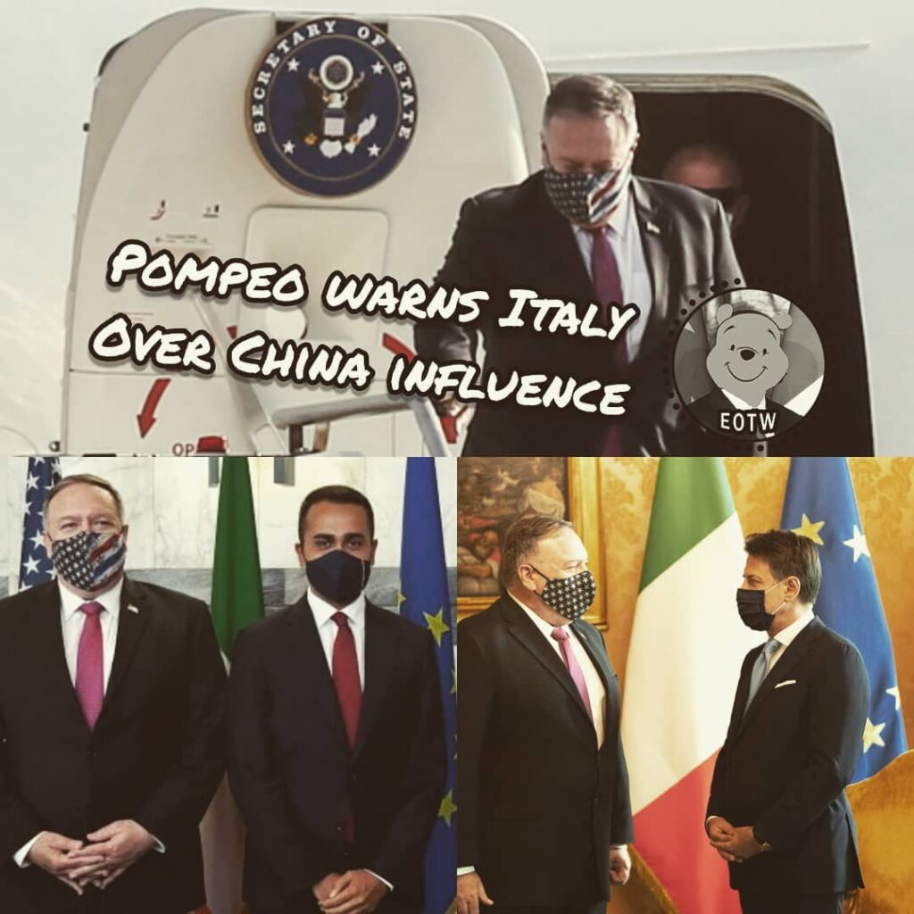 United States Secretary of State Mike Pompeo arrived in Rome on September 29 (St...