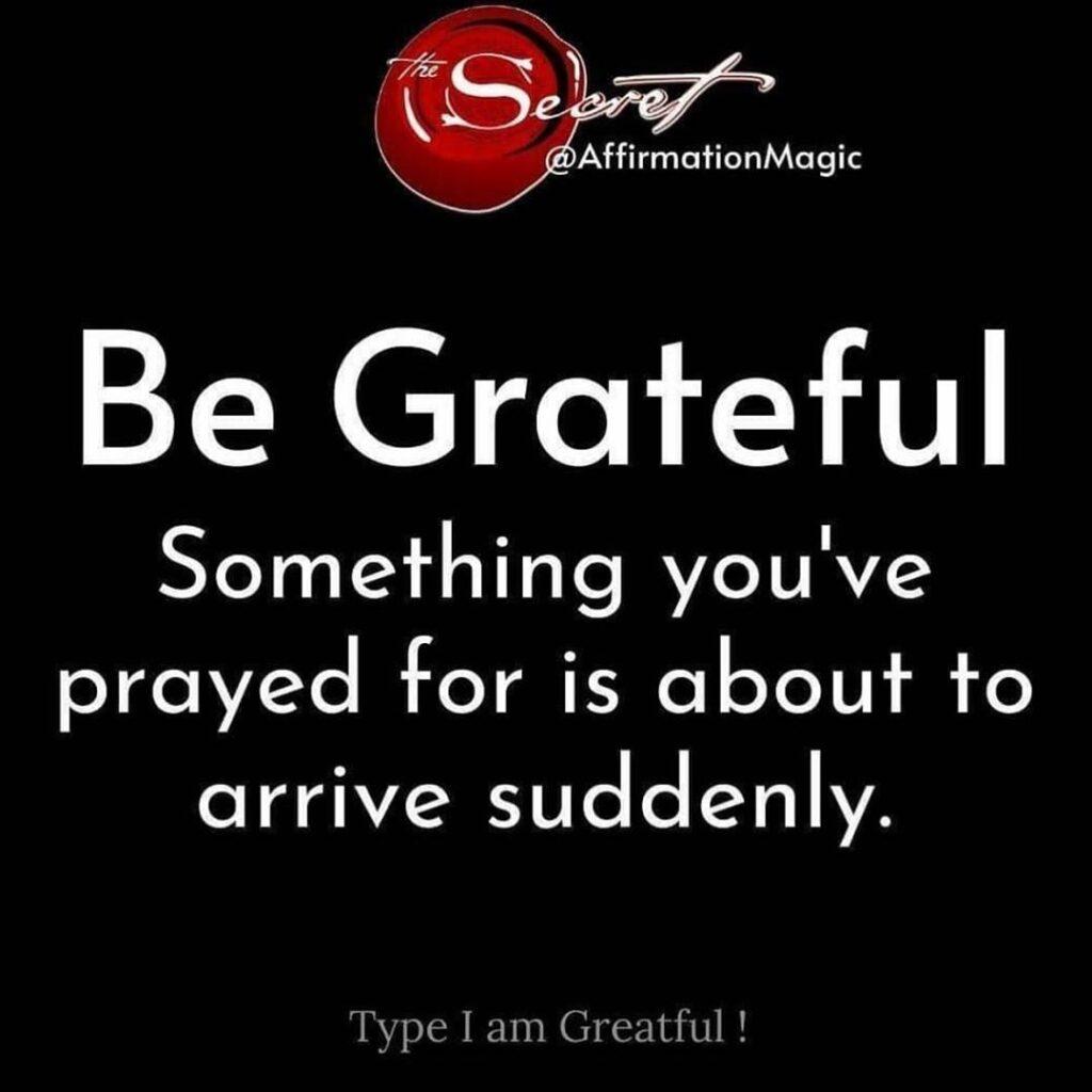 Type I am grateful to affirm ...
