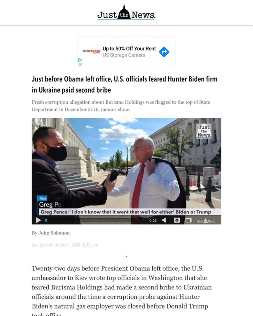 There is now evidence of a second bribe involving Burisma and Hunter Biden that ...