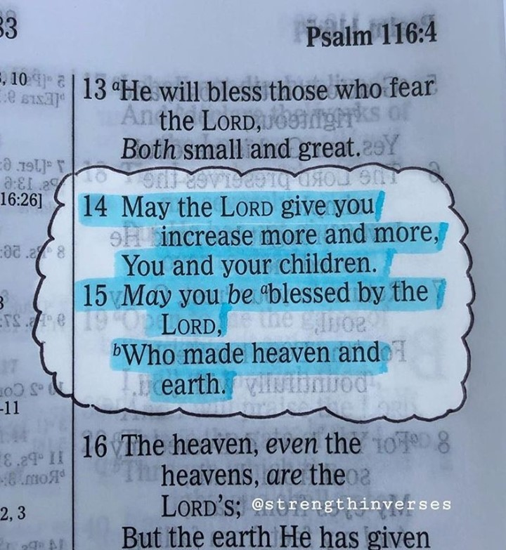 """""""May the Lord give you increase more and more, You and your children. 15 May you..."""