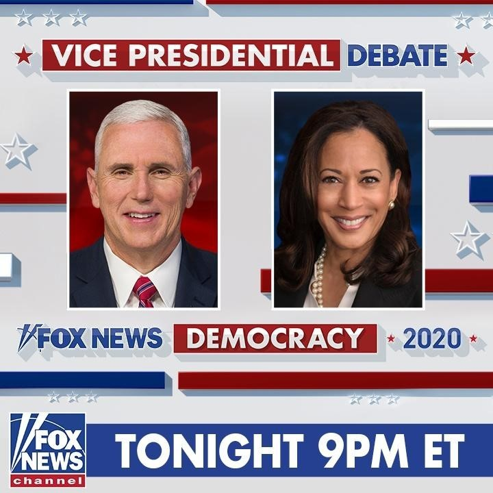 TONIGHT: Vice President Mike Pence and Sen. Kamala Harris face off in the vice p...