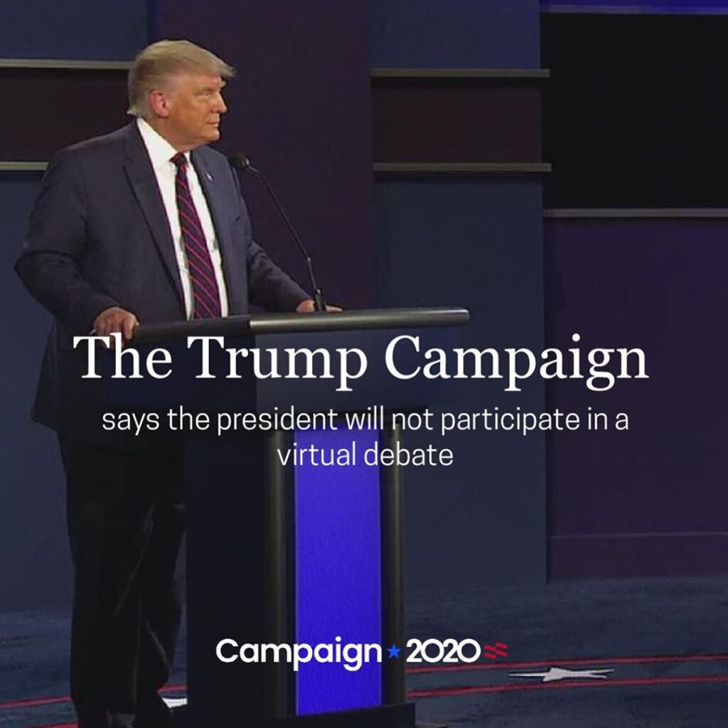 After the announcement by the Commission on Presidential Debates, the Trump camp...