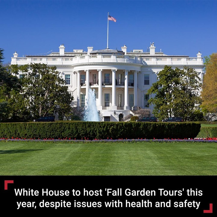 "The White House is set to host ""Fall Garden Tours"" for lawmakers and the public ..."