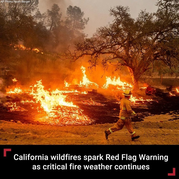 The wildfires that have ravaged California have sparked a Red Flag Warning in so...