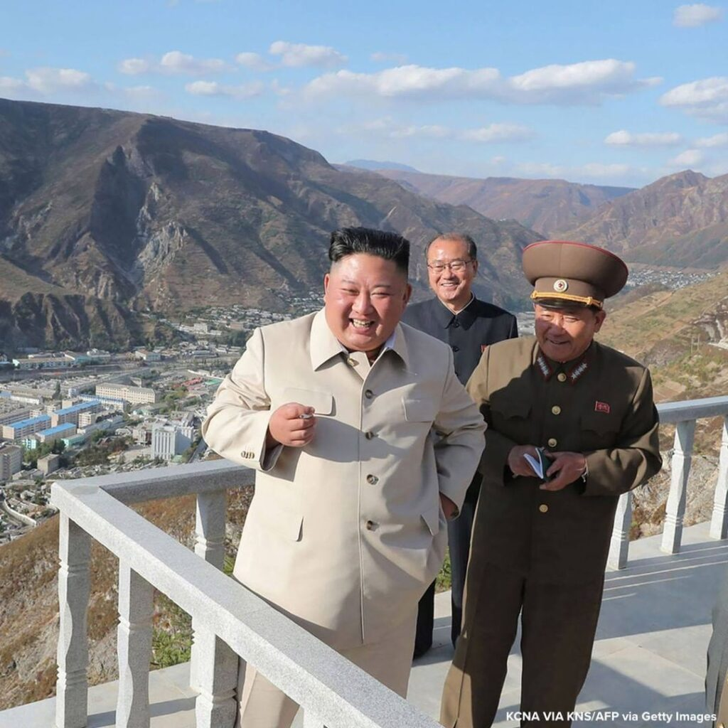 Picture released from North Korea's official Korean Central News Agency shows No...