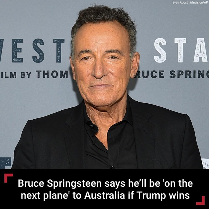 Bruce Springsteen isn't looking forward to the possibility of President Trump's ...