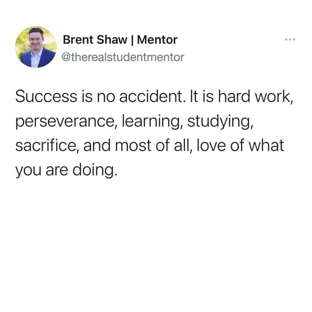 Success requires replacement and sacrifice! I really love all of these things I'...