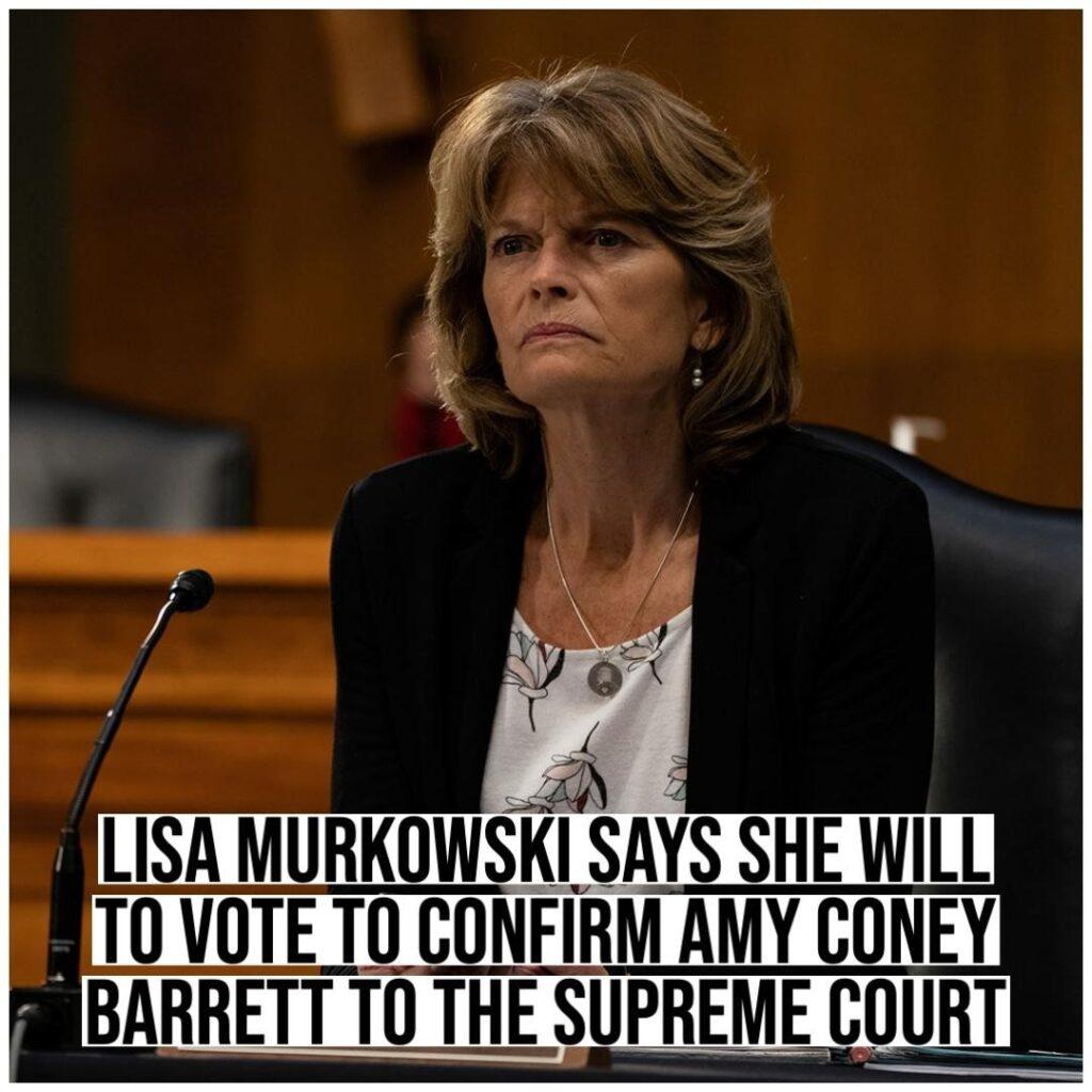 Republican Senator Lisa Murkowski of Alaska announced Saturday that she will vot...