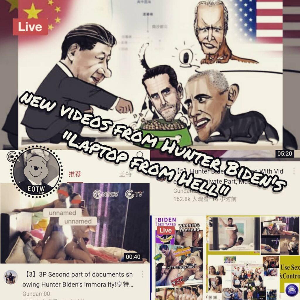 "New videos from Hunter Biden's ""laptop from Hell"" were relased by a chinese webs..."