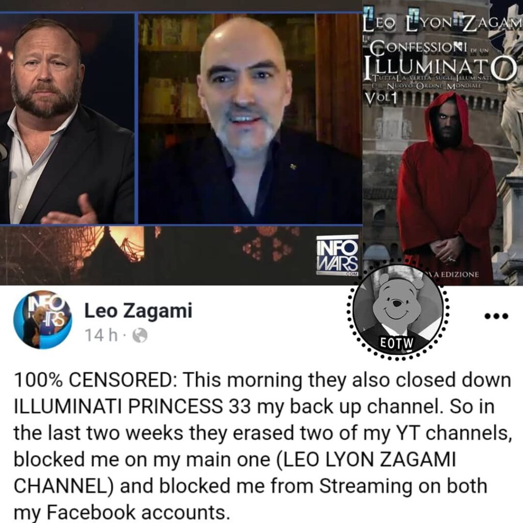 The YouTube channels of the writer, journalist and infowarrior Leo Lyon Zagami w...