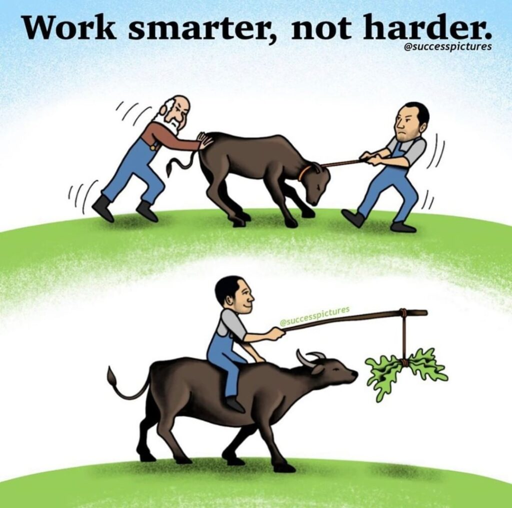 When it comes to online learning, it's all about learning working SMART not HARD...