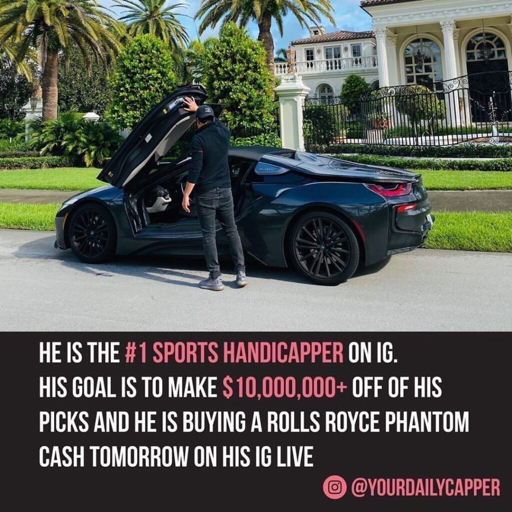 Follow   he makes $10,000+ per week cash flow off his sports picks! Trust me if ...
