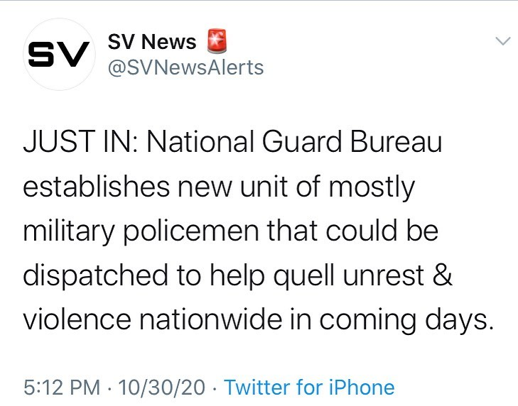 JUST IN: National Guard Bureau establishes new unit of mostly military policemen...