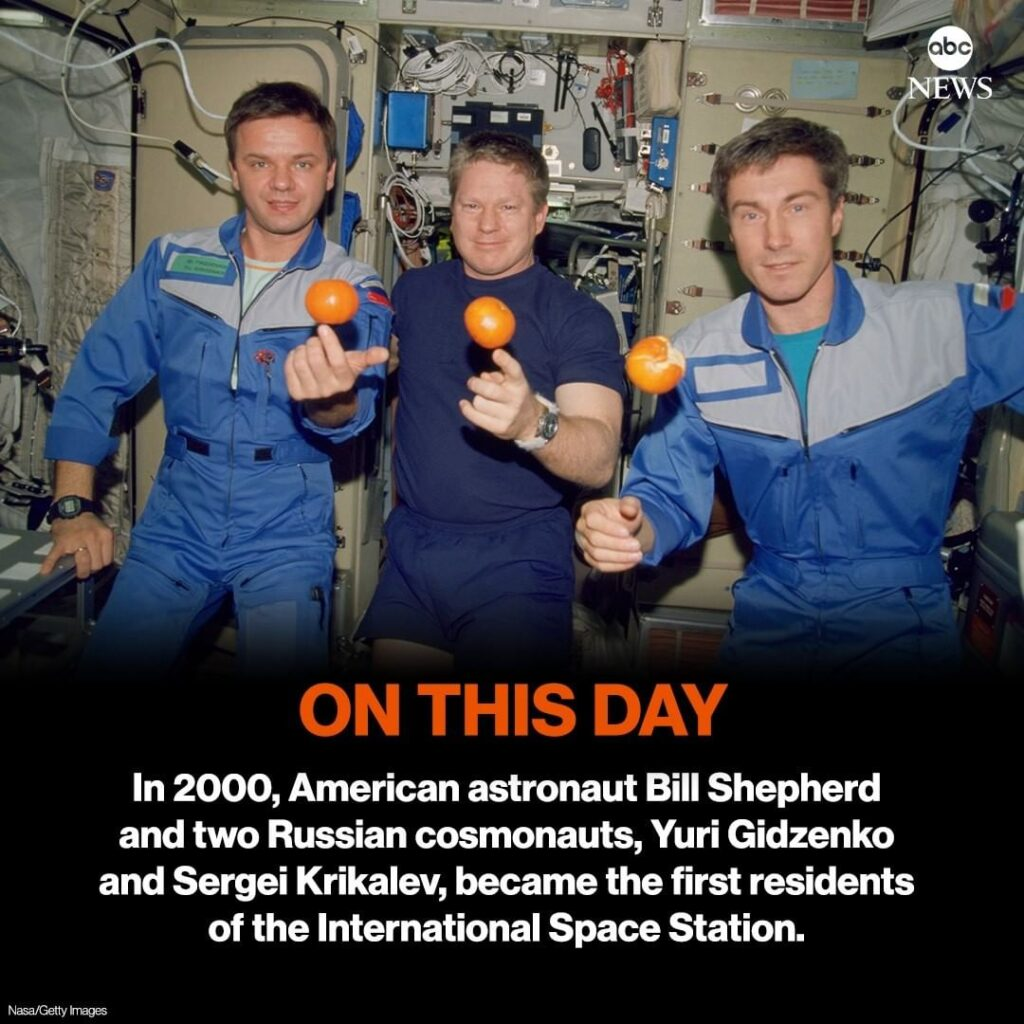 ON THIS DAY: 20 years ago, American astronaut Bill Shepherd and two Russian cosm...