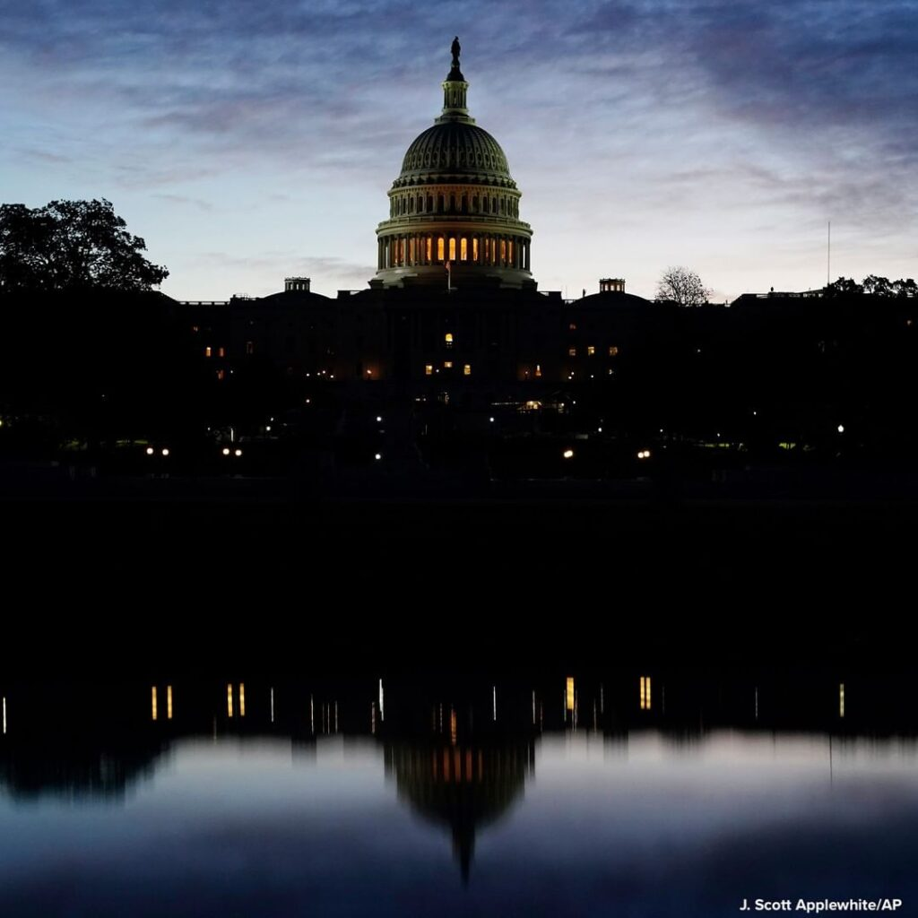The U.S. Capitol is pictured on the morning of Election Day, as voters continue ...