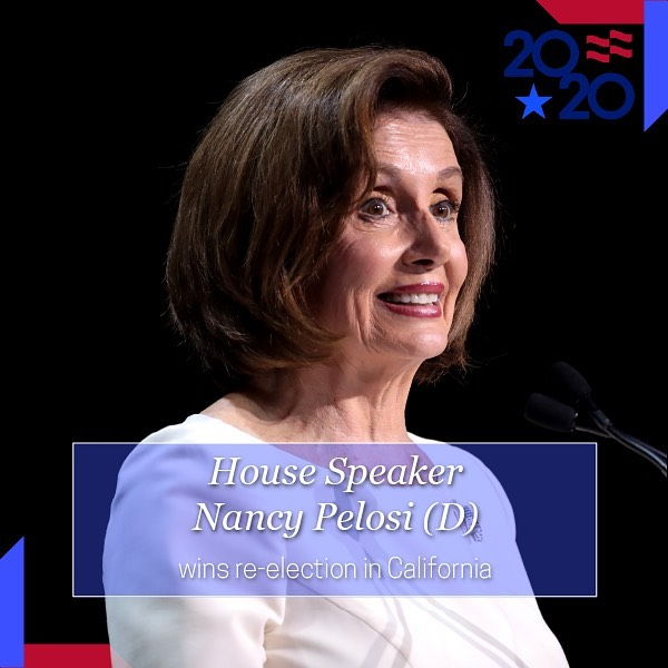 Election Night  House Speaker Nancy Pelosi (D-CA) won re-election for California...
