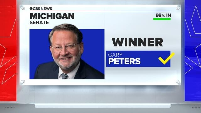 CBS News projects Gary Peters wins reelection in Michigan.   ...