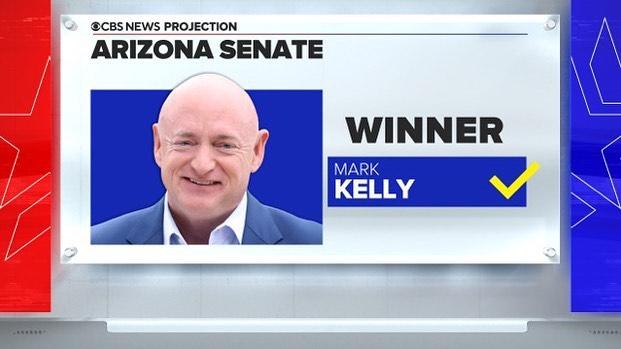 JUST IN: CBS News projects Mark Kelly wins the Arizona Senate race. That's a Dem...