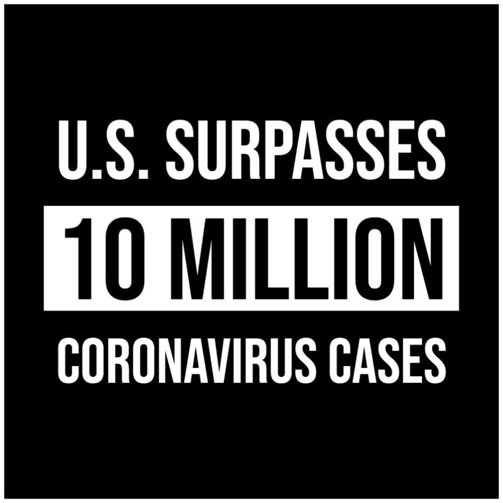 The U.S. has surpassed 10 million confirmed coronavirus cases, marking yet anoth...