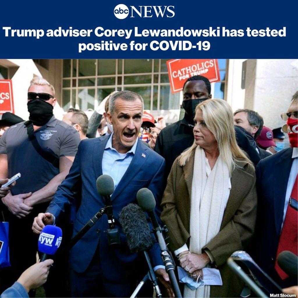 Pres. Trump's adviser Corey Lewandowski has tested positive for COVID-19, accord...