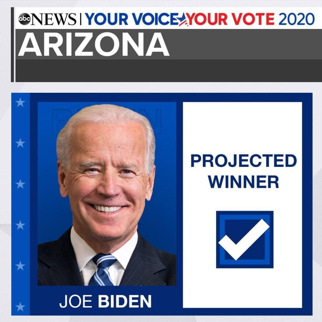 NEW: Joe Biden will win the state of Arizona, Edison projects. ELECTION UPDATES ...