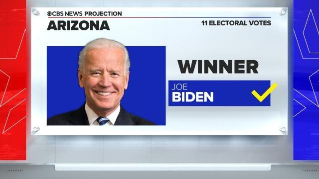 CBS News projects Joe Biden wins Arizona, after counties reported more vote tall...