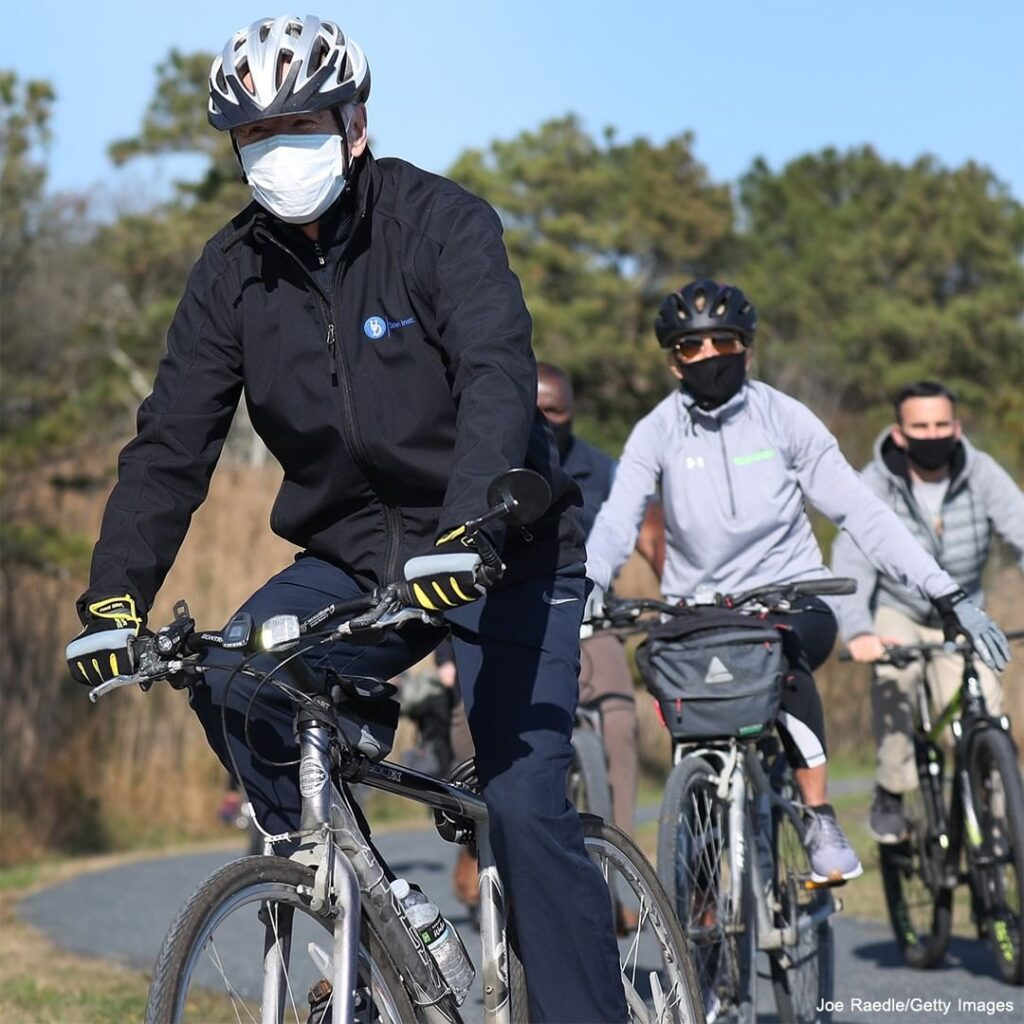 President-elect Joe Biden and his wife, Dr. Jill Biden, took a morning bike ride...
