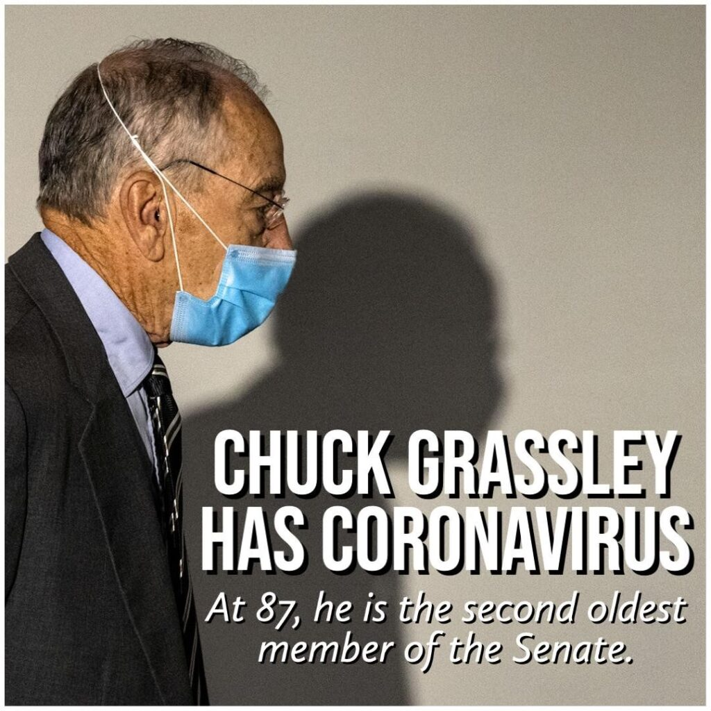 JUST IN: Iowa Senator Chuck Grassley, who at 87 is the second oldest member of t...