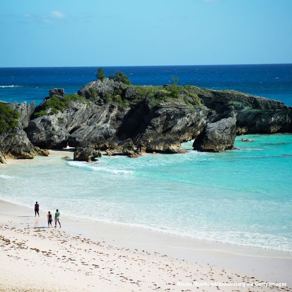 A quiet day at Horseshoe Bay Beach in Southampton Bermuda. With tourism hammered...