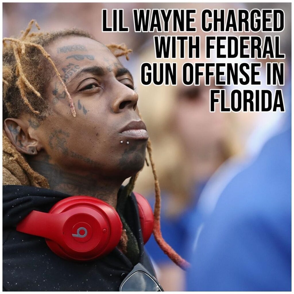 Rapper Lil Wayne was charged Tuesday in Florida with possession of a firearm by ...