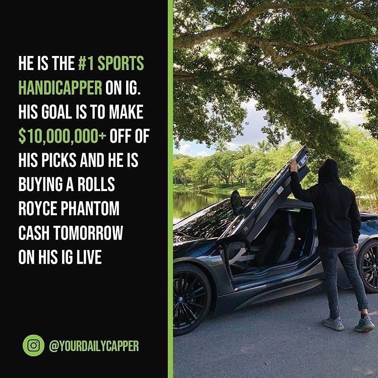 Follow    he makes $10,000+ per week cash flow off his sports picks and he has h...