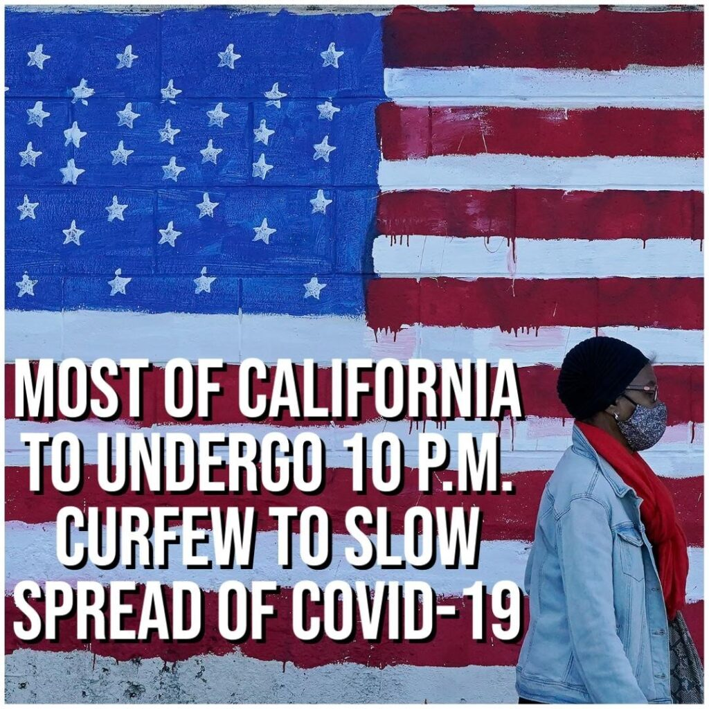 California Governor Gavin Newsom issued a temporary curfew throughout most of th...