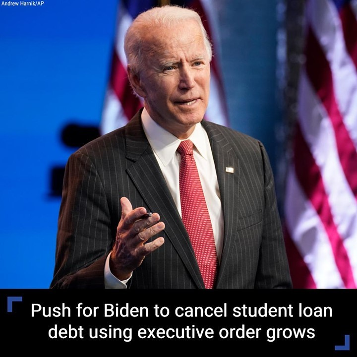 Calls are mounting for President-elect Joe Biden to erase student loan debt on h...