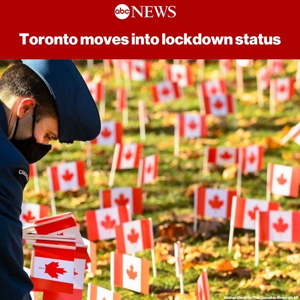 Toronto, the largest city in Canada, moves into lockdown as it tries to mitigate...