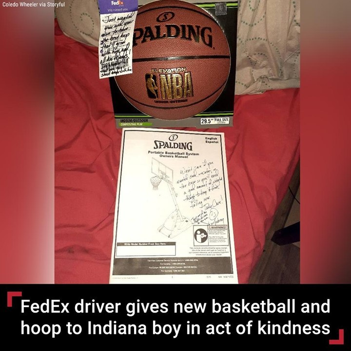 A FedEx driver's act of kindness drove an Indiana family to tears -- and got the...