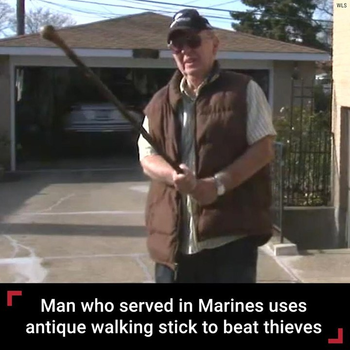 An 81-year-old man who served in the Marines used his grandfather's antique Iris...