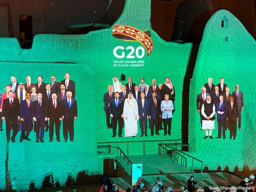 World leaders virtually attending the G20 summit, presided over by Saudi Arabia ...