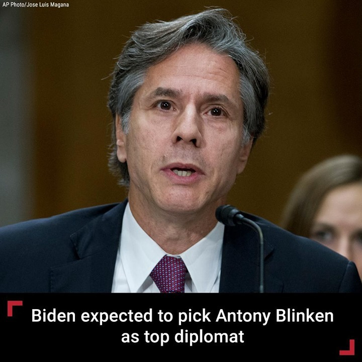 President-elect Joe Biden is expected to nominate Antony Blinken, his top foreig...