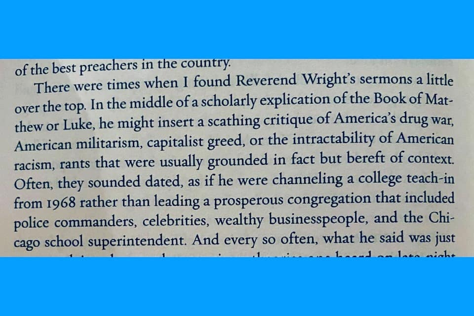 An excerpt from Obama's book. Won't somebody think of the police commanders, cel...