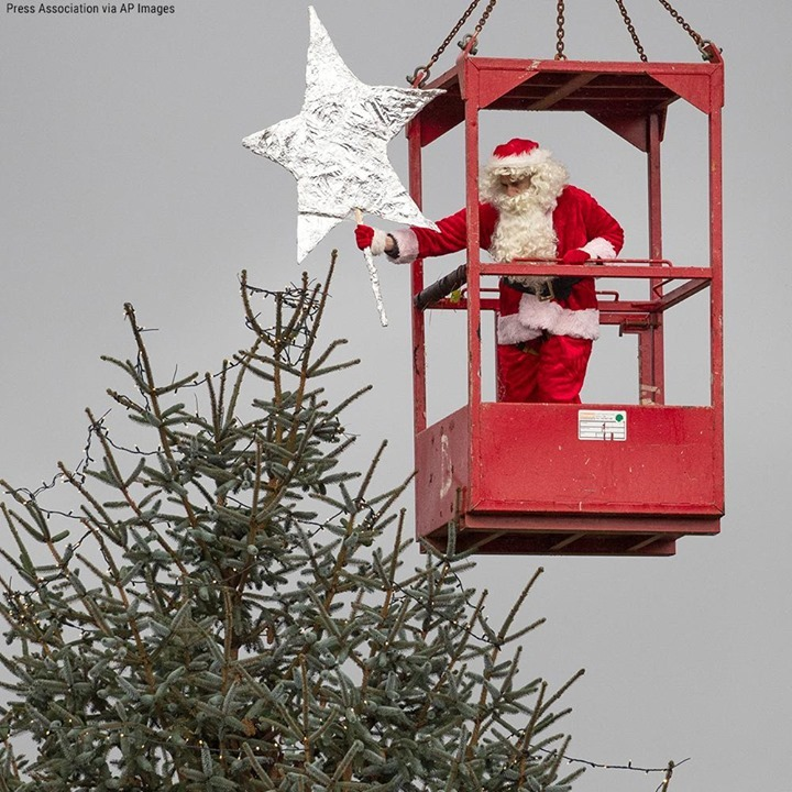 Santa was on hand to decorate the Blair Drummond Safari Park Christmas tree in S...