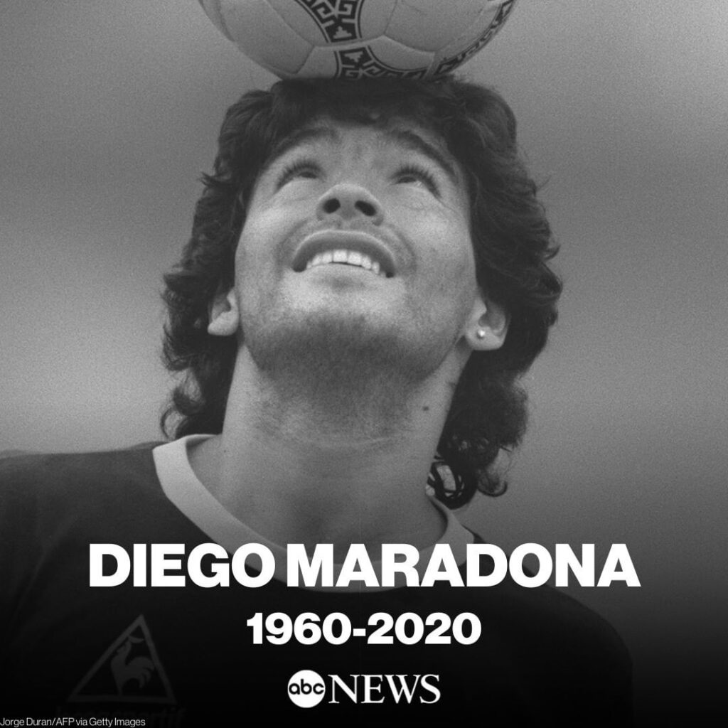 Diego Maradona, the Argentine soccer great who was among the best players ever a...