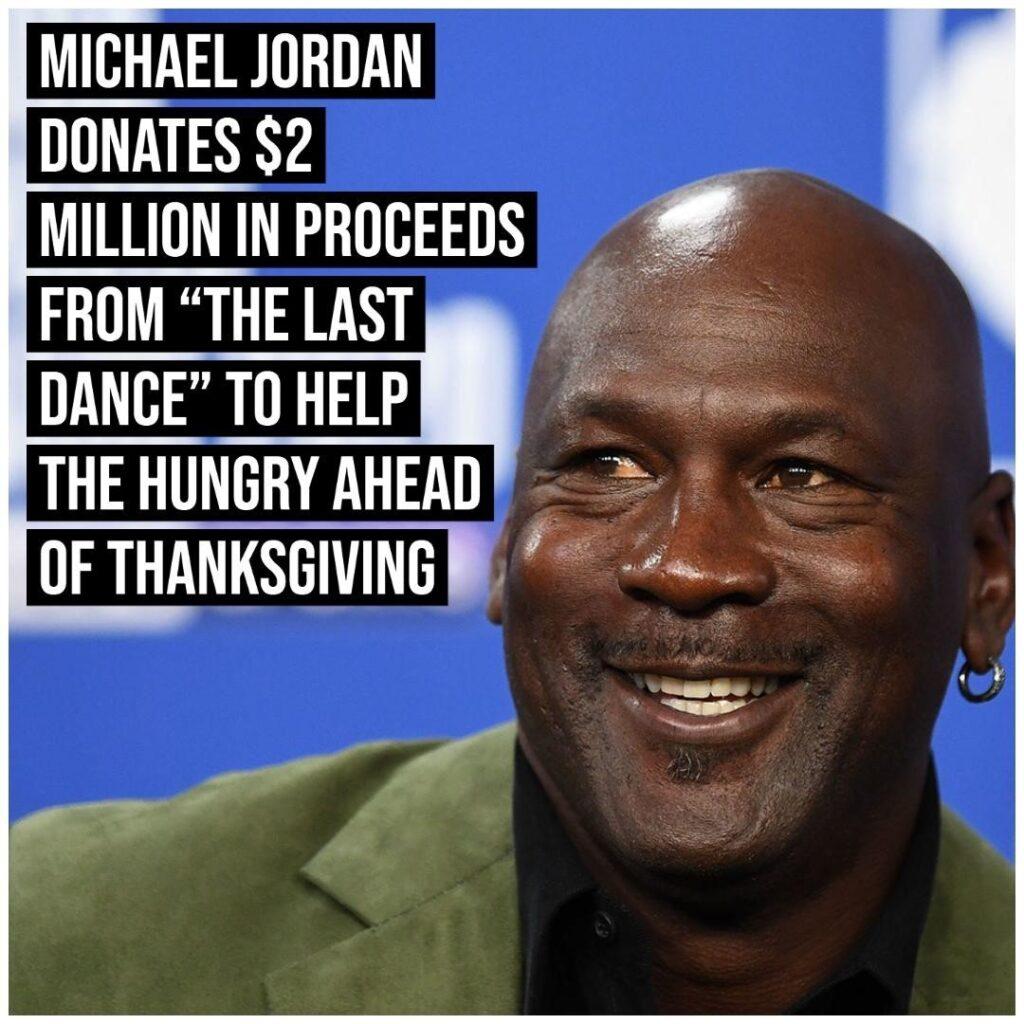 NBA legend and Charlotte Hornets owner Michael Jordan donated $2 million in proc...